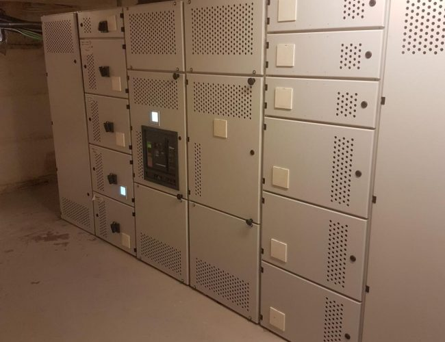 Metal fabricated cabinets with all processes done in-house